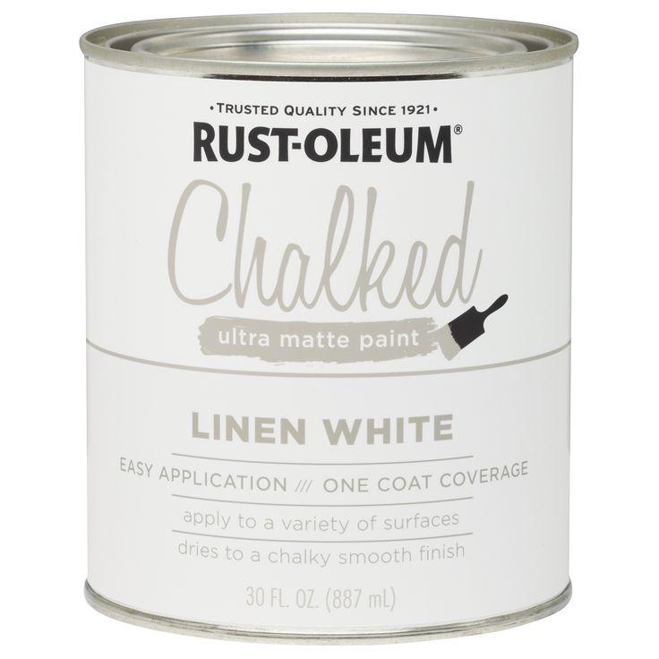 Rustoleum 285140 30 Oz Linen White Chalked Ultra Matte Paint (Interior Paint)