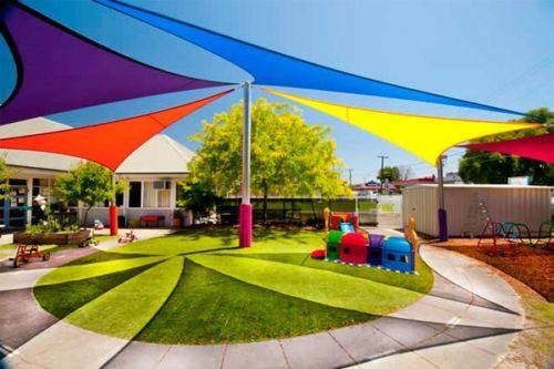 NEW-TRIANGLE-OUTDOOR-SUN-SAIL-SHADE-CANOPY-COVER-BLUE