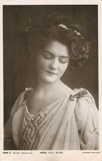Miss Lily Elsie Postcard