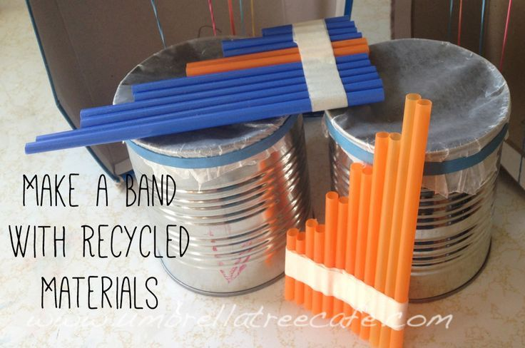 Check out these fun ideas to make musical instruments out for Make something out of recycled materials