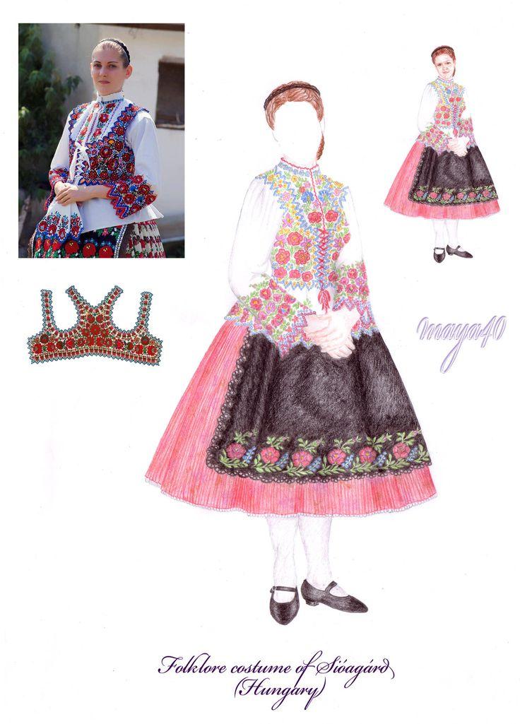 Anna's Secret Wardrobe - Hungarian folklore costume (Sióagárd) by maya40.deviantart.com on @deviantART