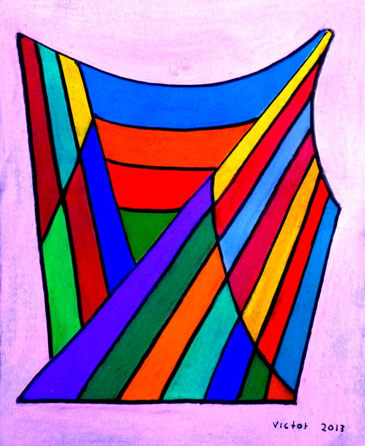 Abstrakt 316, pastell. Abstract 316, pastel.