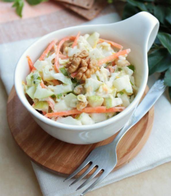 SIDE DISH: Apple-Walnut Coleslaw