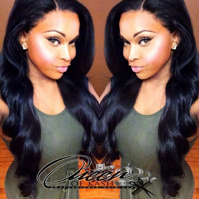 Full sew in with Lace frontal: Sew Ins, Full Sewing In Hairstyles ...