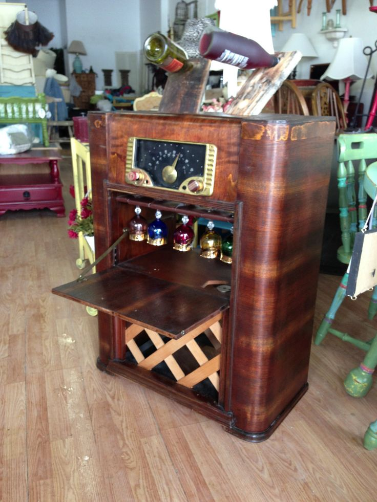 vintage stereo cabinet wine bar recreated from an antique stereo cabinet 28001
