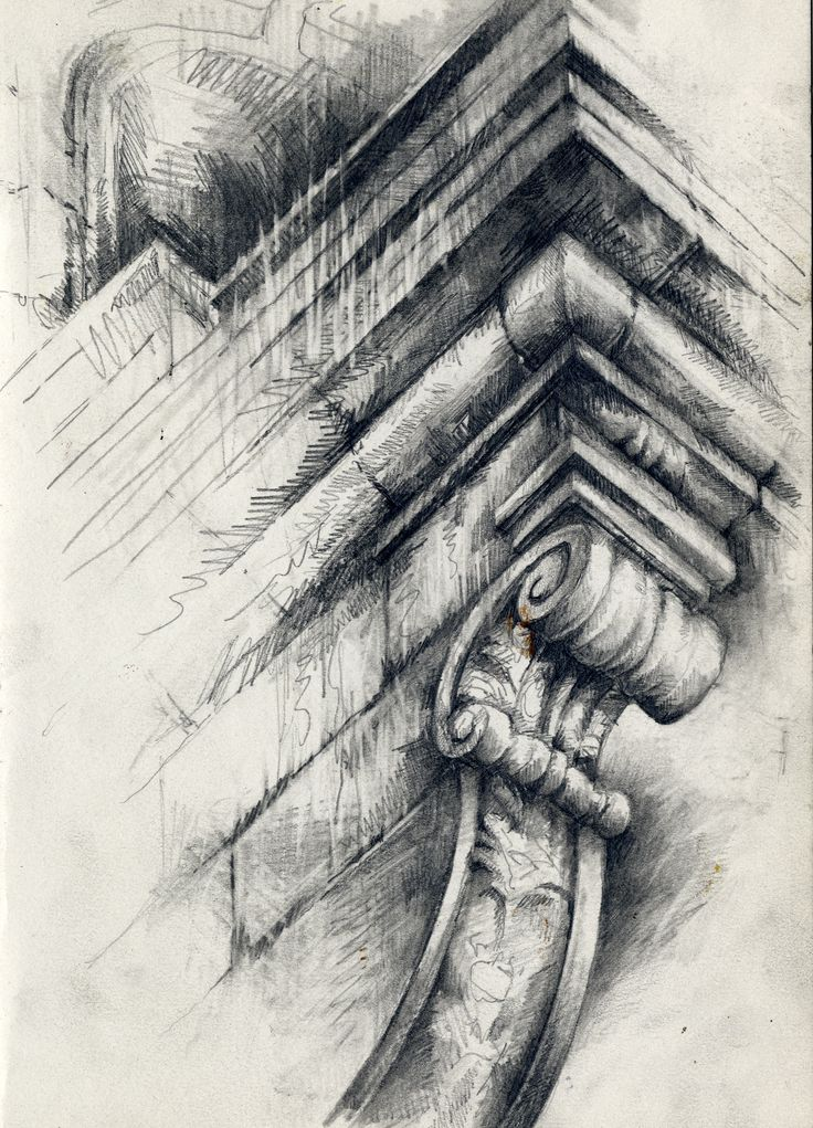 Ian Murphy Ornate Architecture, Graphite study