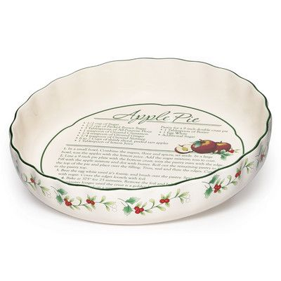 Pfaltzgraff Christmas Winterberry Pie Plate with Recipe  sc 1 st  Pinterest & 50 best Pretty Pretty Pie Plates images on Pinterest | Pie plate ...