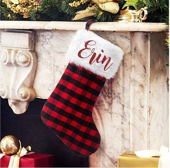 Plaid Perfect Christmas Gifts Holidayvibesonly Knotsvilla Wedding Ideas Canada Wedding Blog Farmhouse Christmas Stockings Christmas Stockings Plaid Stockings