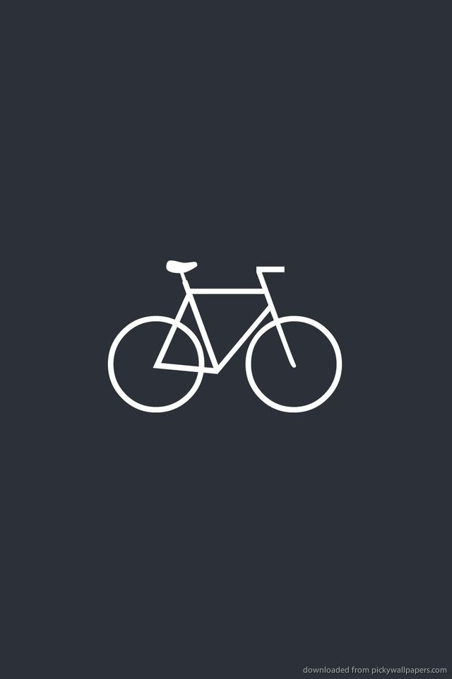 ↑↑TAP AND GET THE FREE APP! Sport Bicycle Grey Unicolor Bike Riding Simple Minimalistic HD iPhone 4 Wallpaper