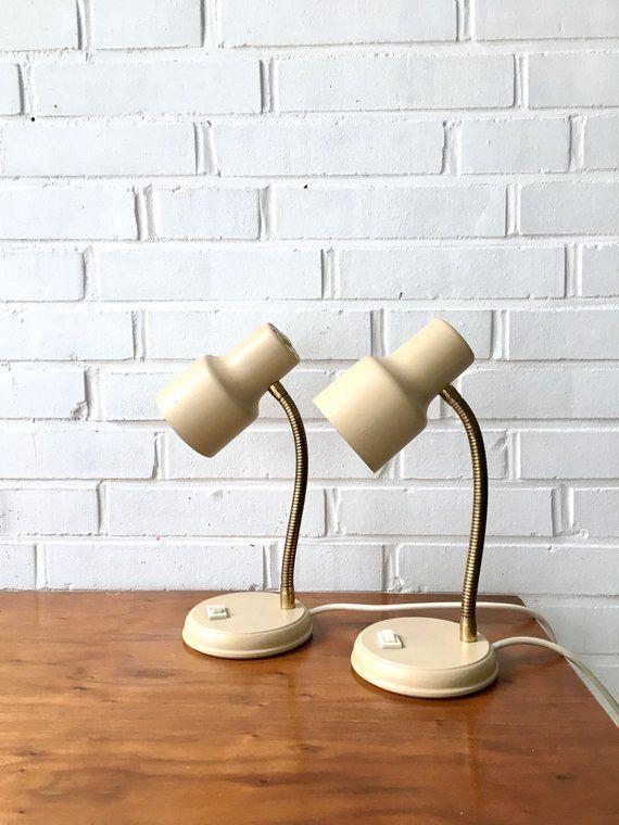 Mid Century Lamps Bedside Lights Vintage Lamp Swan Neck Set Of