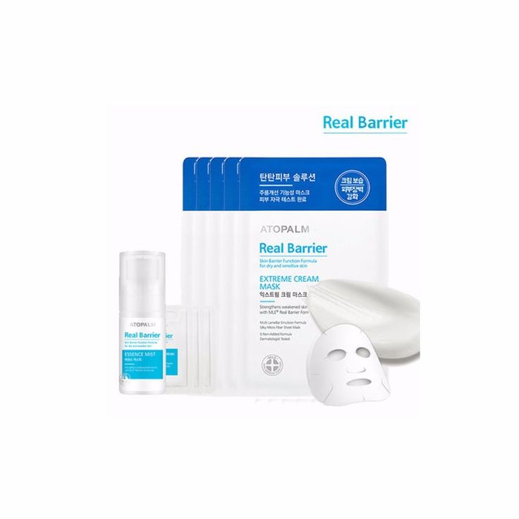 Atopalm Real Barrier Extreme Cream Mask Sheet 5 Pieces Plus Mist 30ml #Atopalm