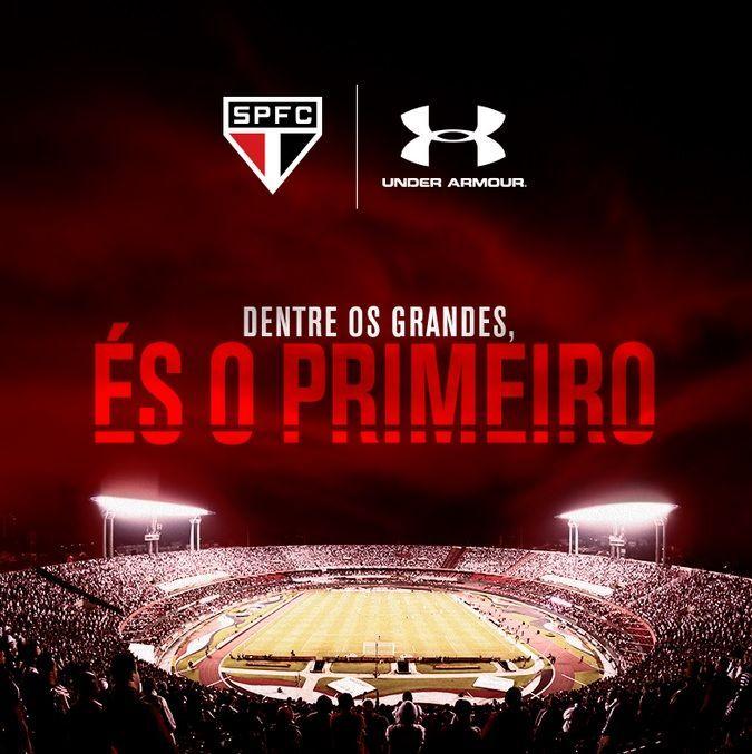 Parceria São Paulo FC e Under Armour |  Fornecedor são-paulino celebra início de parceria Contrato entre Tricolor e Under Armour entra em vigência nesta sexta-feira; lançamento da nova camisa acontece na segunda (via SPFC.NET)