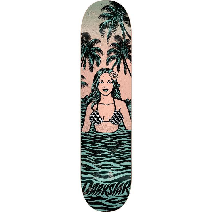 Darkstar Skateboards Hawaiian Green / Peach Skateboard Deck - 8 x 31.6 - Warehouse Skateboards