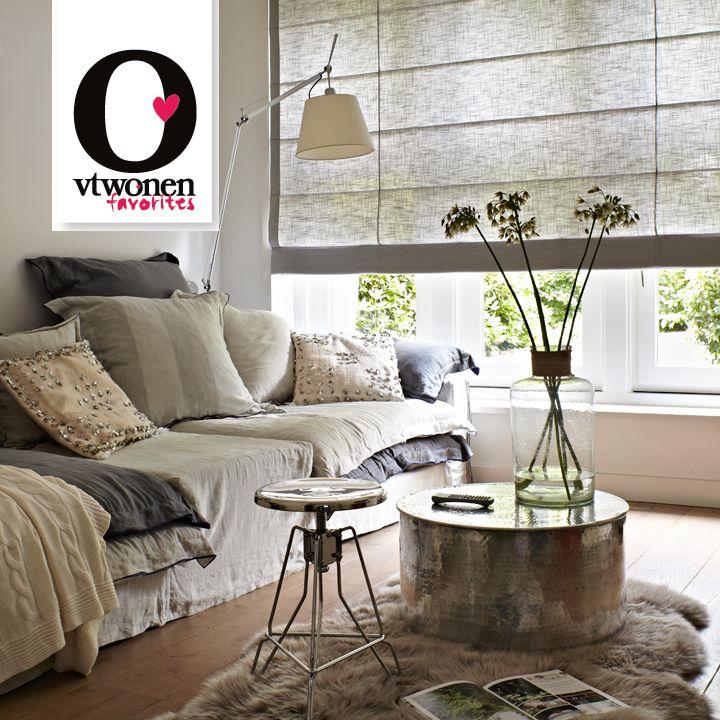 Puur design: puur textiel in strak design, dat zijn de Roman Shades van vtwonen favorites. vtwonen favorites van Luxaflex®