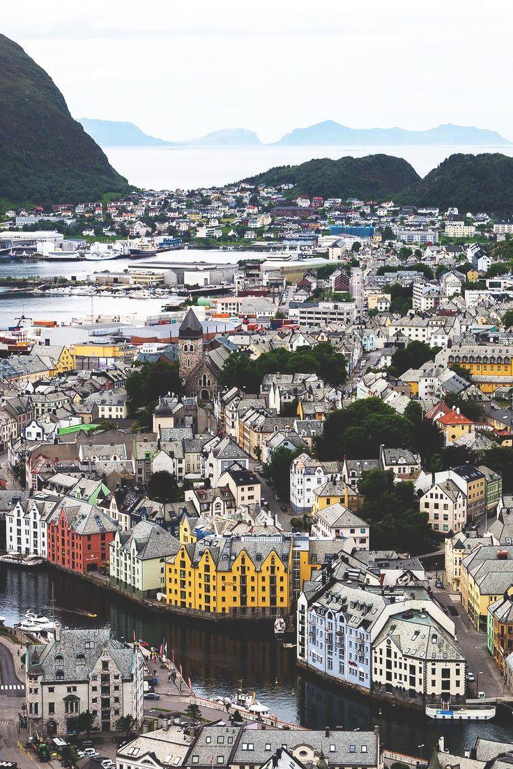 colorful buildings in Norway