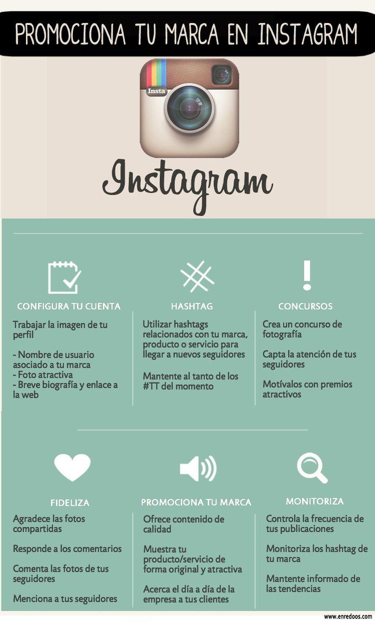 infografia, Promocionar tu marca en instagram, by Enredoos. Social media, redes sociales