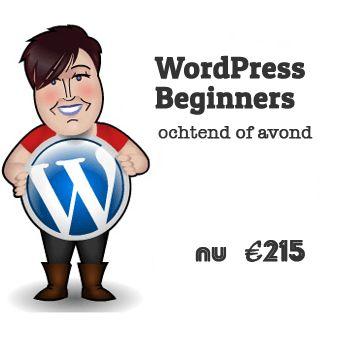 Weblish organiseert een cursus WordPress in Utrecht. Voor € 215 leer je je site te maken en bij te houden. En krijg je 2 weken gratis nazorg.