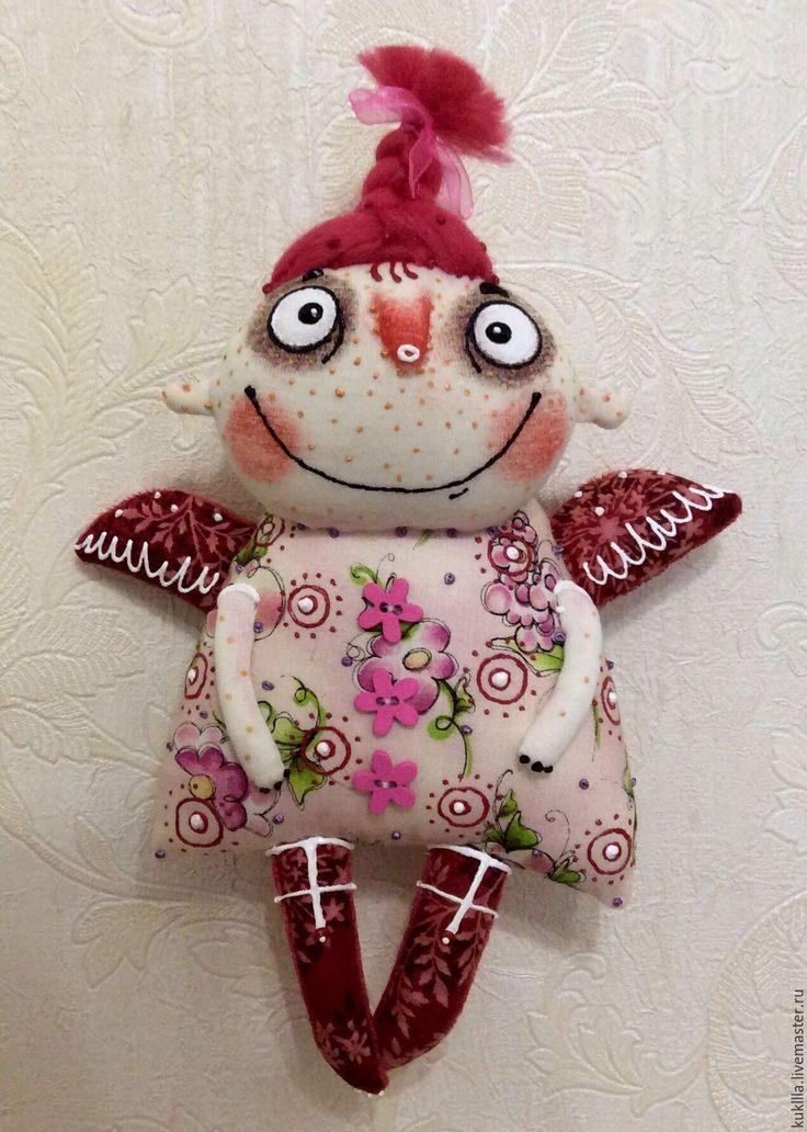 Купить Смешливые ангелочки - комбинированный, ангел, ангелочек, текстильная кукла, кукла в подарок, подарок девушке