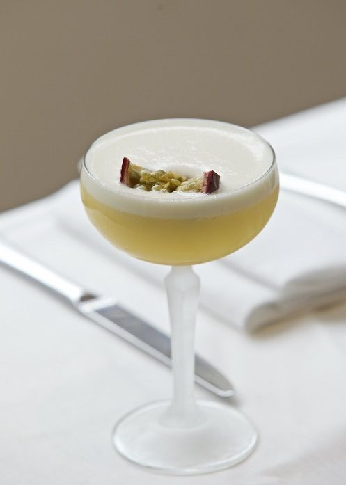 Our elegant passion fruit cocktail