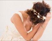 62 euros - Couronne de fleurs mariage: Celina double  : Accessoires coiffure par nuagecolore