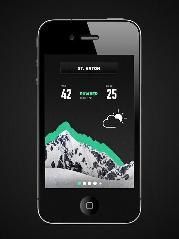 Inspiration Mobile #19 : Applications météo | BlogDuWebdesign