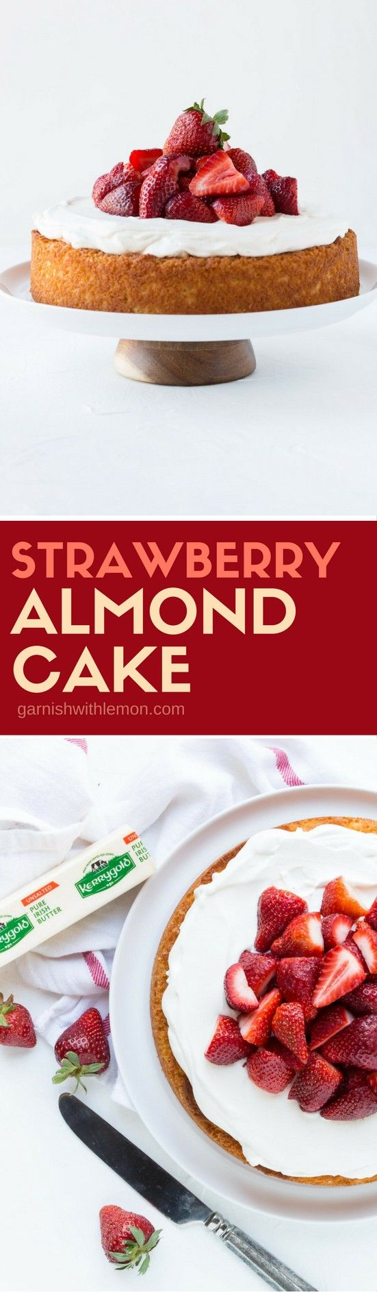 Spring desserts don't get much prettier (or easier) than this gorgeous Strawberry Almond Cake!