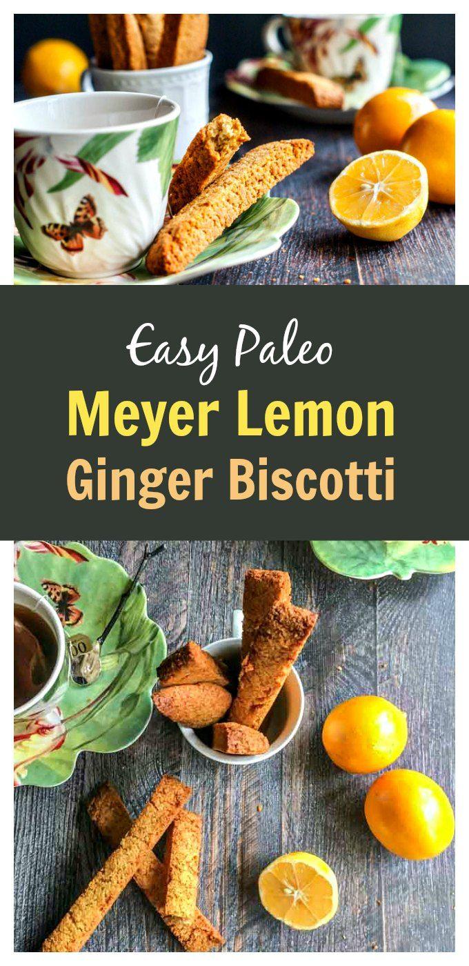 Paleo Meyer Lemon Ginger Biscotti - so easy to make and gluten free too!