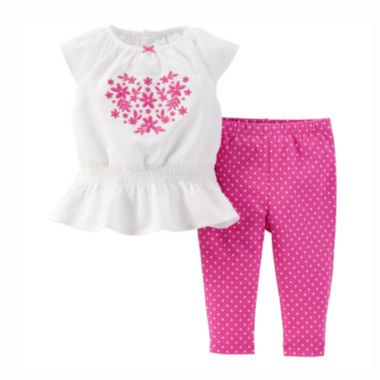Carter s Top and Pants Set Baby Girls newborn 24m found