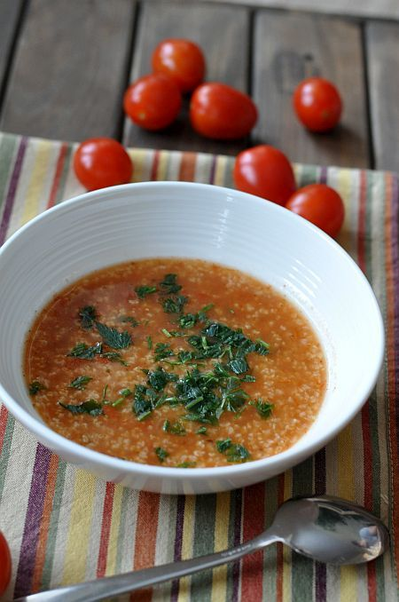 Tomato soup with millet _ Zupa pomidorowa z kaszą jaglaną
