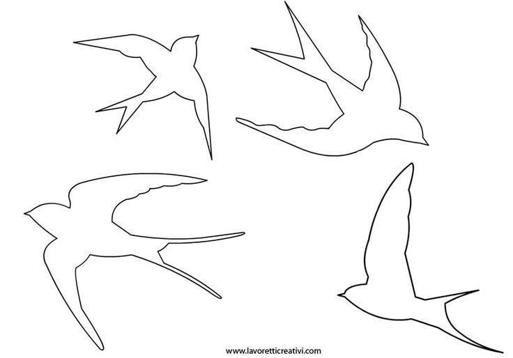 Nella realizzazioni di alcuni lavoretti per la Primavera vi possono essere utili le sagome delle rondini. Per salvare l'immagine cliccate sul disegno con i