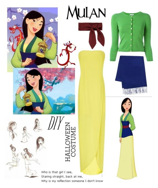 """DIY Halloween Costume: Mulan"" by daisslovebeauty on Polyvore featuring Disney, BCBGMAXAZRIA, P.A.R.O.S.H., Yves Saint Laurent, Chloé, halloweencostume and DIYHalloween"