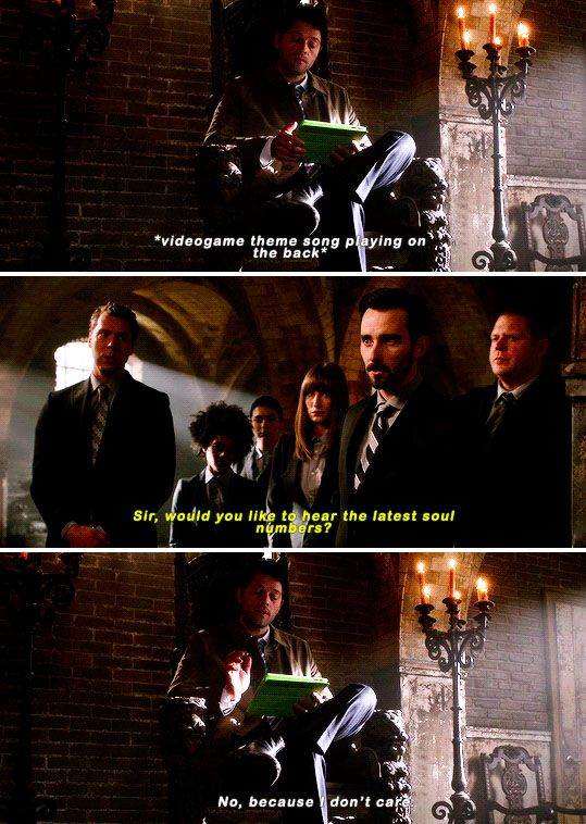 11x14 The Vessel [gifset] - Casifer playing games on an iPad - Supernatural