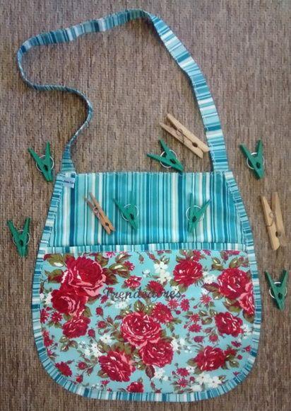 tecido 100% algodão, manta de fibra, bordado.  bem prático para usar no quintal na hora de estender as roupas!!! R$ 40,00