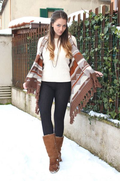 Sweater and Leggings Outfits   Vests, Ugg Boots, Ralph