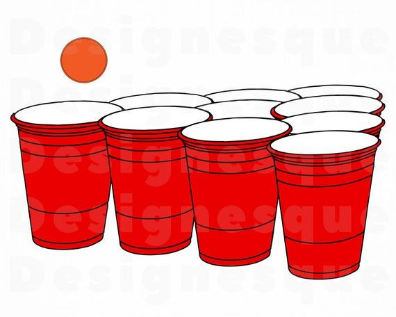 Beer Pong Svg Beer Pong Clipart Beer Pong Files For Cricut Etsy Diy Beer Pong Table Beer Pong Table Designs Beer Pong Table Painted