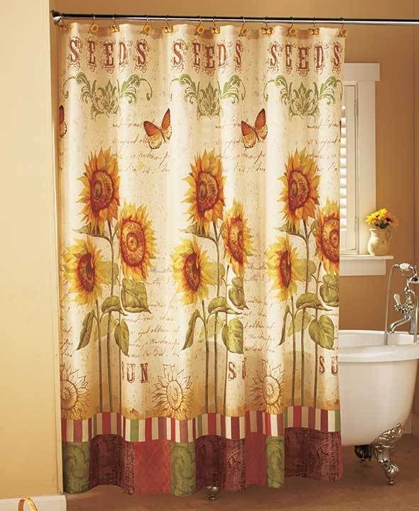 Superior Details About Sunflower Shower Curtain Sunflower Bathroom Collection  Elegant Bathroom Decor
