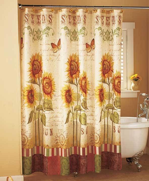 Details about Sunflower Shower Curtain Sunflower Bathroom Collection  Elegant Bathroom Decor - Best 25+ Sunflower Bathroom Ideas On Pinterest Sunflower Kitchen