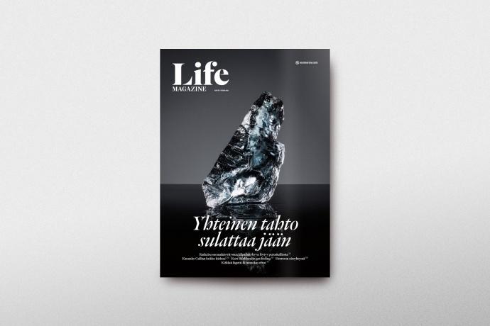 Magazine cover, Life Magazine #3 / Client: Mandatum Life, Agency: Wonder Helsinki