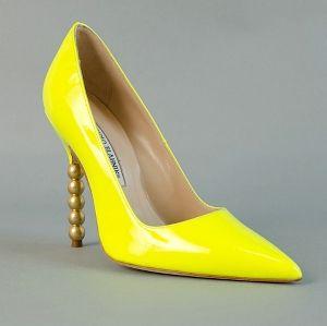 Manolo Blahnik nice, yellow shoes!