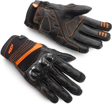 Les gants moto KTM Radical X Gloves sont assortis au look de la 390 Duke