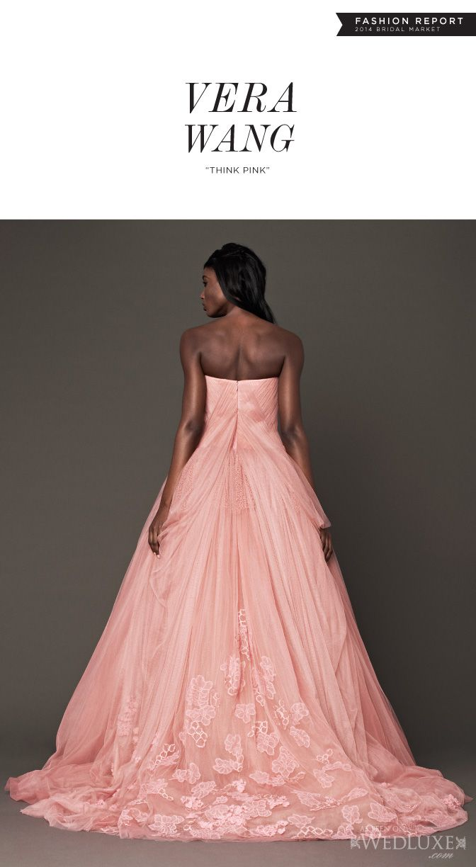 147 best images about vera wang bridal on pinterest for Vera wang rose wedding dress