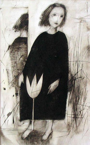 Etching by Marina Terauds.