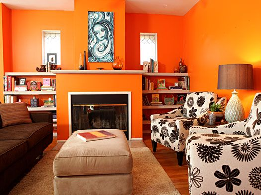 Eclectic living room painted in benjamin moore electric - Living room paint colour ideas 2015 ...