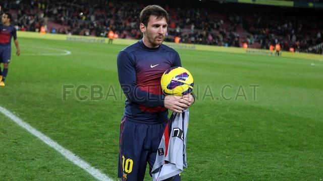 Leonel Andrés Messi, FC Barcelona. | FC Barcelona 5-1 Osasuna. 2013-01-27.