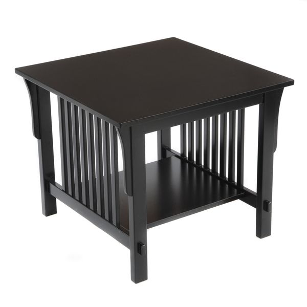 Bianco Collection Mission Black End Table - Overstock™ Shopping - Great Deals on Coffee, Sofa & End Tables