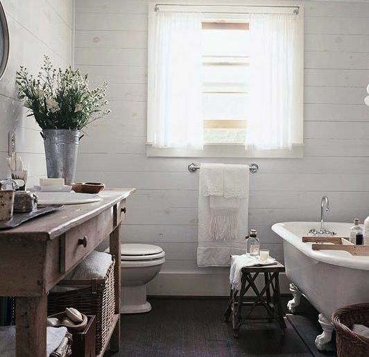 Low-Cost Bathroom Updates  Country baths, Vanities and Inspiration