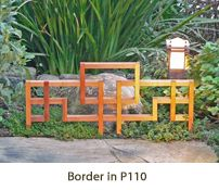 a unique and decorative border along a walkway or between flower beds with LatticeStix Borders. Each border is built from hand-joined Western red cedar, with a half lapped and doweled joints. Corners are fastened with our decorative and strong PinLock joints. http://www.latticestix.com/index.php?cPath=430