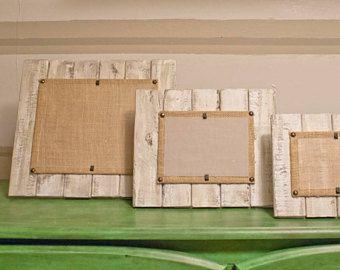 Plataforma, marco de madera recuperada, 4 x 6, 5 x 7, 8 x 10, marco apenado, marco de lechada de cal, Driftwood marco, marco de la playa