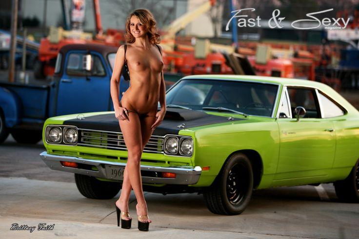 Fast car sexy woman