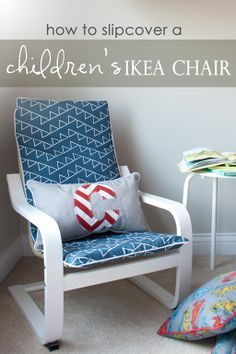 How to Slipcover a Childs IKEA POANG Chair ~ from Just The Bee's Knees poang chair cover adaptable for different styles of poang